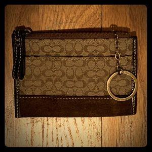 Coach Keychain coin ID mini wallet